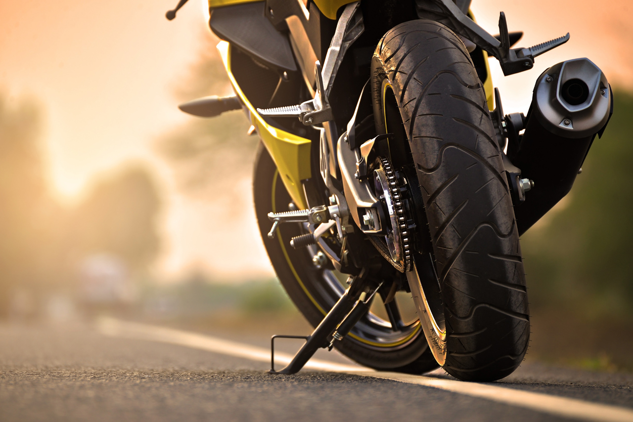 Stranded-Motorcycle-During-Sunset-Transportation-Needed