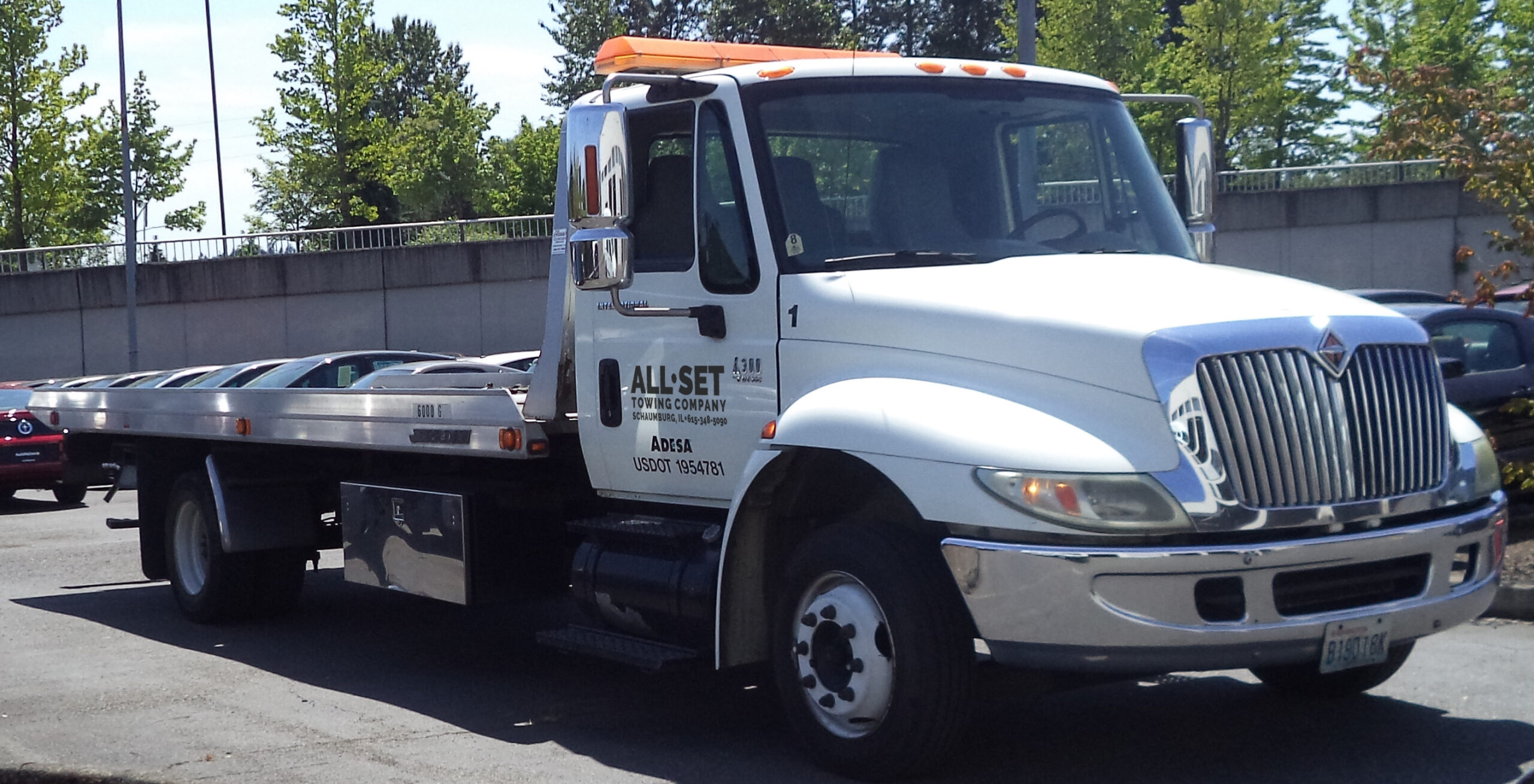 All Set Towing Company Flat Bed Tow Truck Schaumburg IL - Color